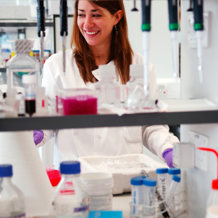 a student in a lab