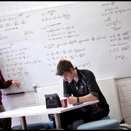 maths students at work
