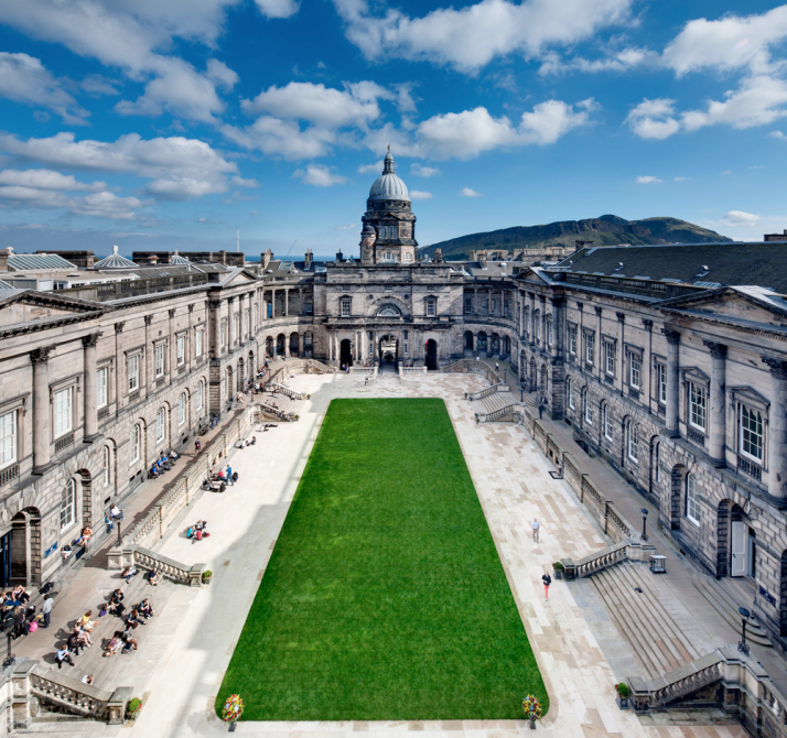 The quad of Old College, University of Edinburgh