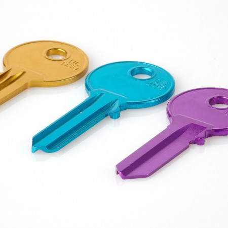 Three coloured keys