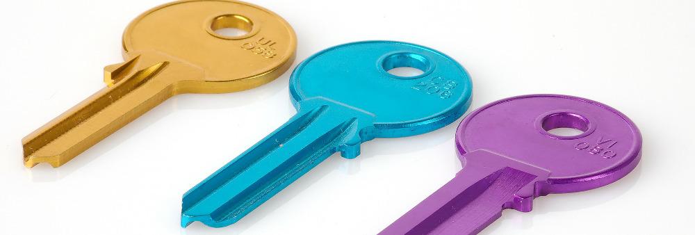 Three coloured keys