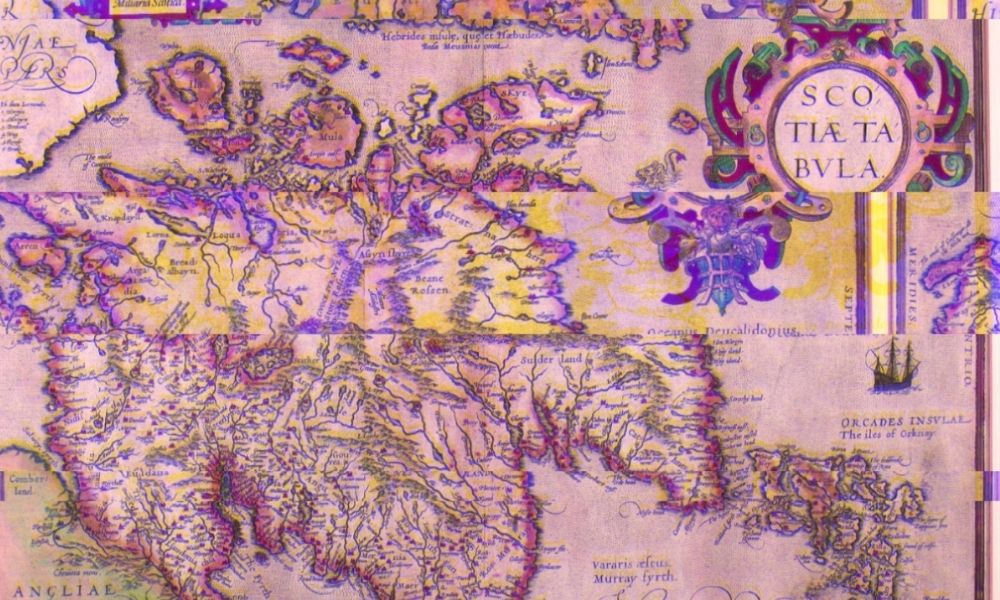 Map of Scotland from 1573