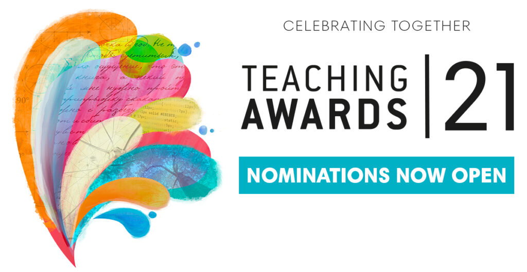 Poster advertising the Teaching Awards