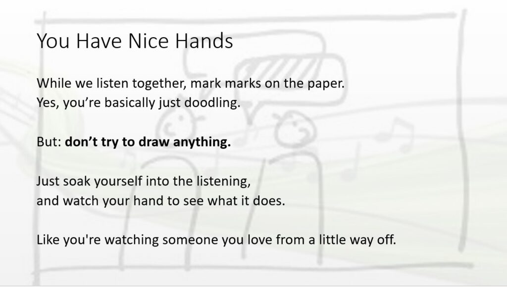 Grounding Exercises over hand-drawn stick figure background