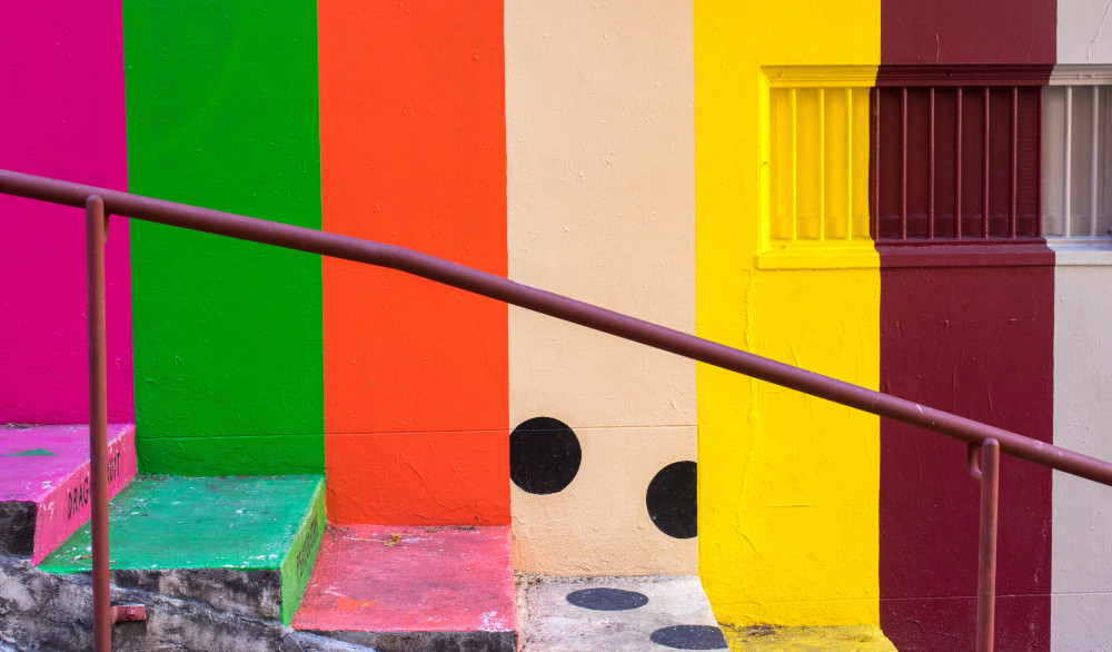 Colourful steps